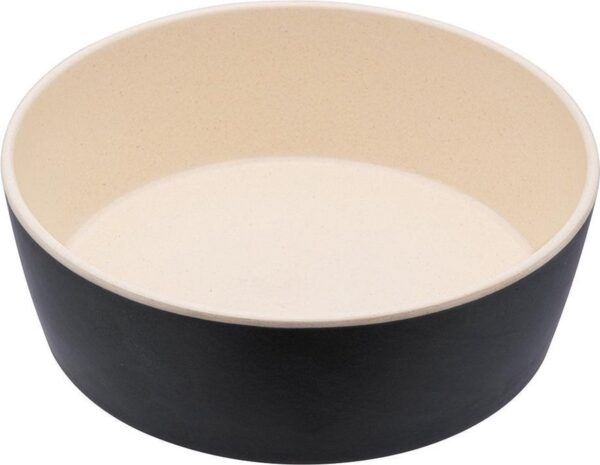 Bamboe voerbak/waterbak voor honden - duurzaam & trendy - Beco Printed Bowls in 5 Kleuren in 2 maten - Kleur: Grijs, Maat: Large - 1650 ml