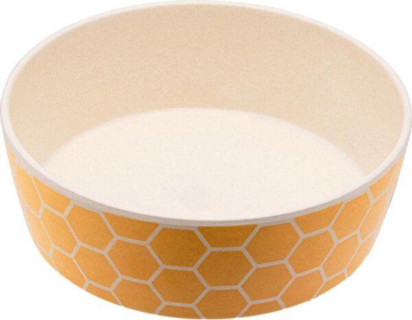 Bamboe voerbak/waterbak voor honden - duurzaam & trendy - Beco Printed Bowls in 5 Kleuren in 2 maten - Kleur: Honingraat, Maat: Small - 800 ml