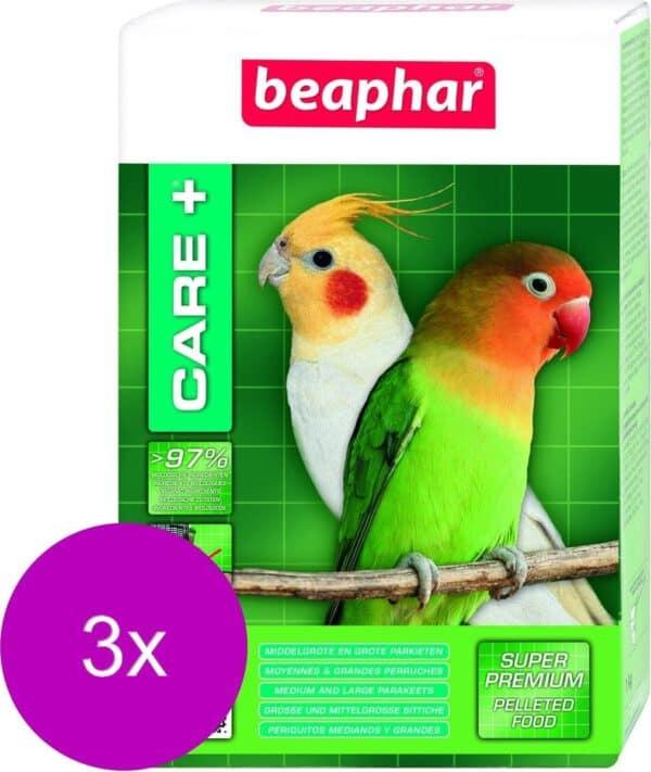 Beaphar Care Plus Gropar Parkietenvoer - Vogelvoer - 3 x 500 g