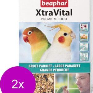 Beaphar Xtra Vital grote Parkiet - 2 St à 500 gr - Vogelvoer