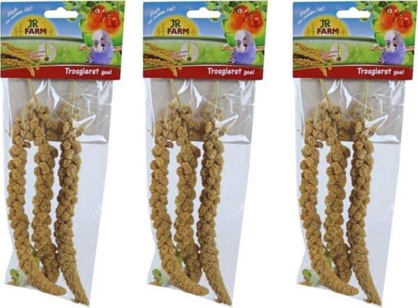 JR Farm parkiet & grote parkiet trosgierst geel, 75 gram per 3 verpakkingen