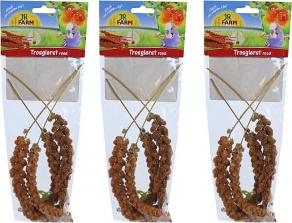 JR Farm parkiet & grote parkiet trosgierst rood, 75 gram per 3 verpakkingen