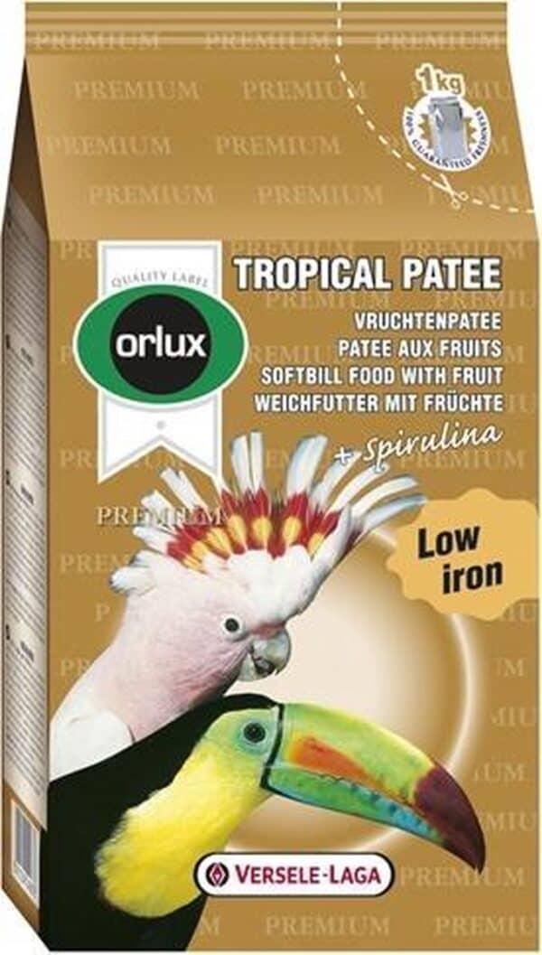 Orlux premium tropical patee vruchtenpatee - 1 kg - 1 stuks