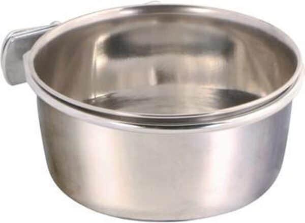 Trixie voerbak met schroefbevestiging rvs - 600 ml 12 cm - 1 stuks