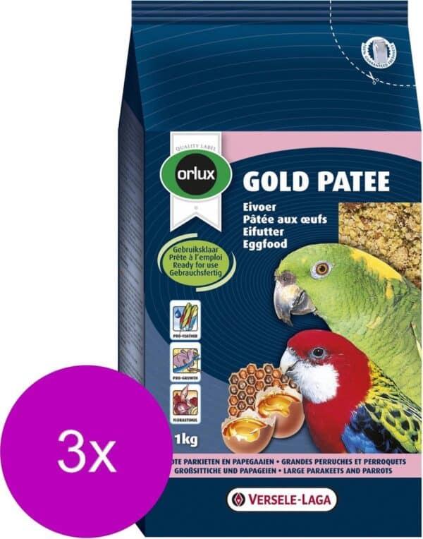 Versele-Laga Orlux Gold Patee Papegaai - Vogelvoer - 3 x 1 kg