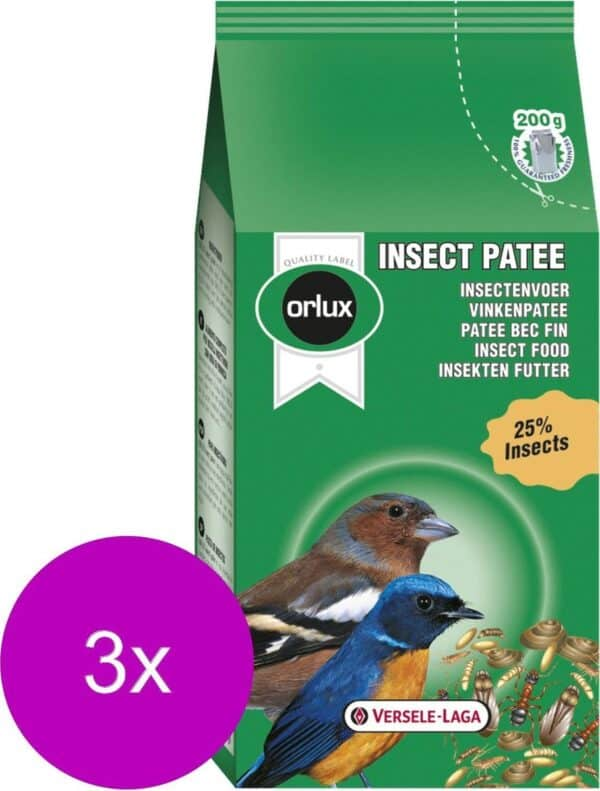 Versele-Laga Orlux Insect Patee - Vogelvoer - 3 x 200 g