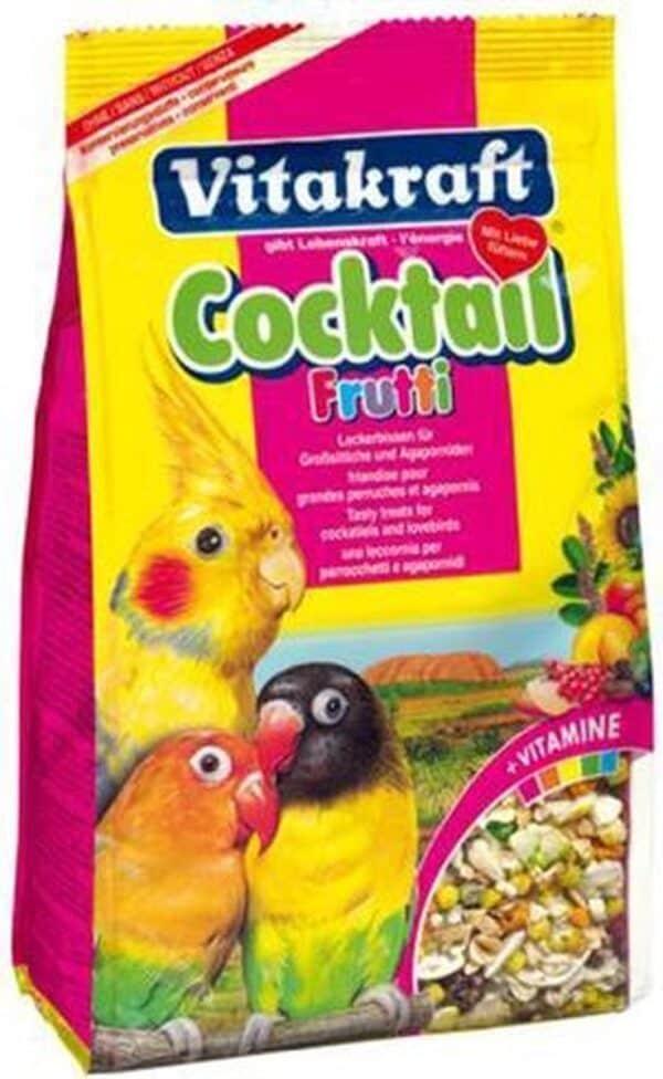 Vitakraft grote parkiet/agapornissen coctail frutti - 250 gr - 1 stuks